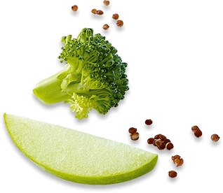 Applaws Taste Toppers ingredients broccoli, apple and quinoa